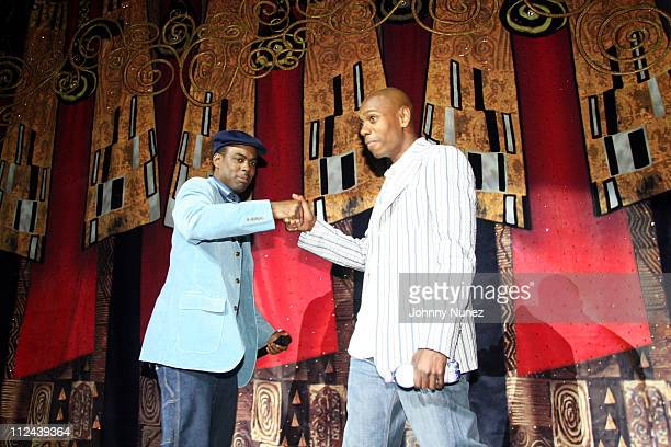 Chris Rock and Dave Chappelle during Spike Lee's 20 Anniversary Celebration Benefit After Party at Royal Caribbean in New York City New York United...