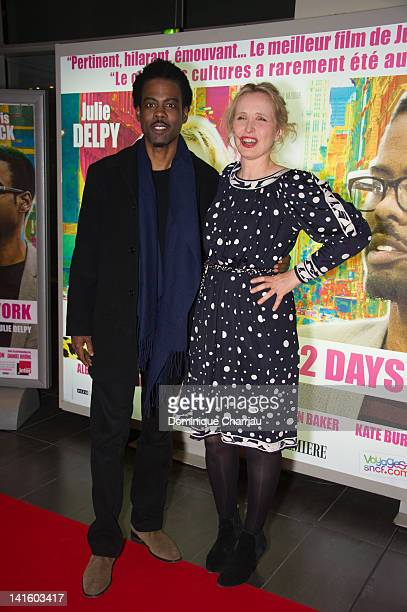 Chris Rock and Julie Delpy attend '2 Days In New York' Premiere at Mk2 Bibliotheque on March 19 2012 in Paris France