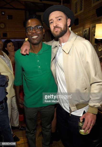 Chris Rock and Justin Timberlake attend Apollo in the Hamptons 2017 hosted by Ronald O Perelman at The Creeks on August 12 2017 in East Hampton New...