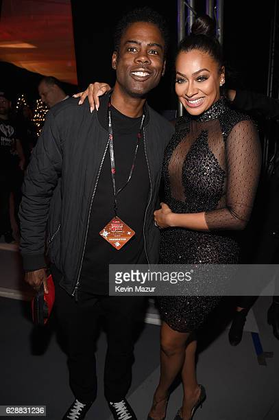 Chris Rock and La La Anthony attend Z100's Jingle Ball 2016 at Madison Square Garden on December 9 2016 in New York City