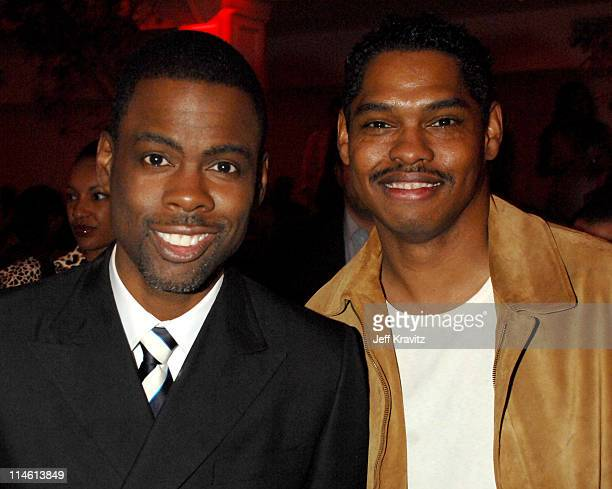 Chris Rock and Lance Crouther during I Think I Love My Wife Los Angeles Premiere After Party in Los Angeles California United States