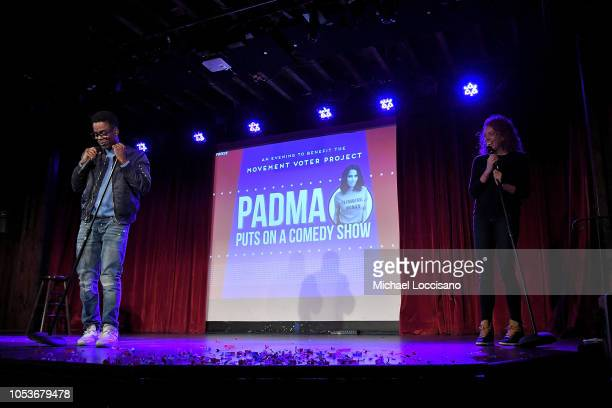 Chris Rock and Michelle Wolf perform during the the Movement Voter Project comedy benefit at The Bell House on October 24 2018 in the Brooklyn...
