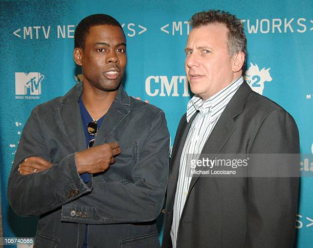 Chris Rock and Paul Reiser during 2005/2006 MTV Networks UpFront at The Theatre at Madison Square Garden in New York City New york United States