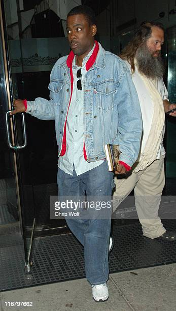 Chris Rock and Rick Rubin during Carmen Electra Sighting at Mr Chow February 12 2007 at Mr Chow in Beverly Hills California United States