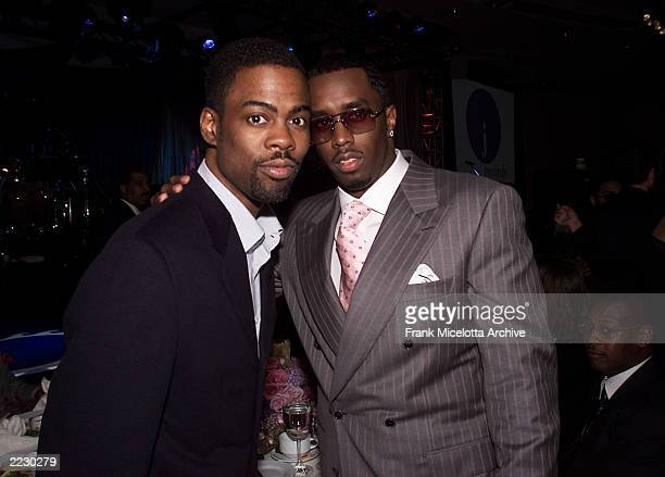 """Chris Rock and Sean """"P. Diddy"""" Combs pose together at the 12th Annual Clive Davis Pre-Grammy party at the Beverly Hills Hotel in Los Angeles, CA on..."""