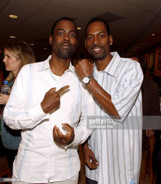 Chris Rock and Tony Rock during CW Launch Party Inside at WB Main Lot in Burbank California United States