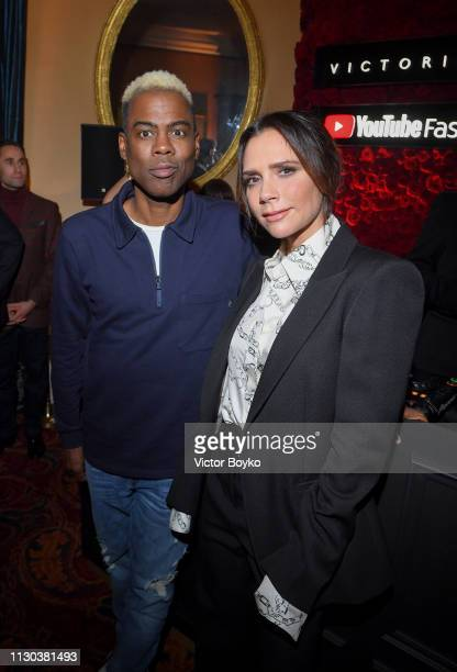 Chris Rock and Victoria Beckham attend the Victoria Beckham x YouTube Fashion Beauty After Party at London Fashion Week hosted by Derek Blasberg and...
