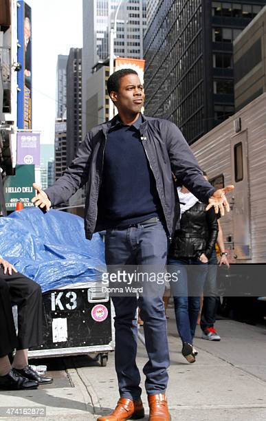 """Chris Rock arrives for the final episode of """"The Late Show with David Letterman"""" at the Ed Sullivan Theater on May 20, 2015 in New York City."""