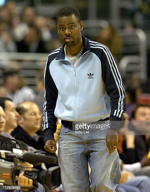 Chris Rock attends Los Angeles Lakers game against the New York Knicks at the Staples Center in Los Angeles, Calif. On Tuesday, March 29, 2005.