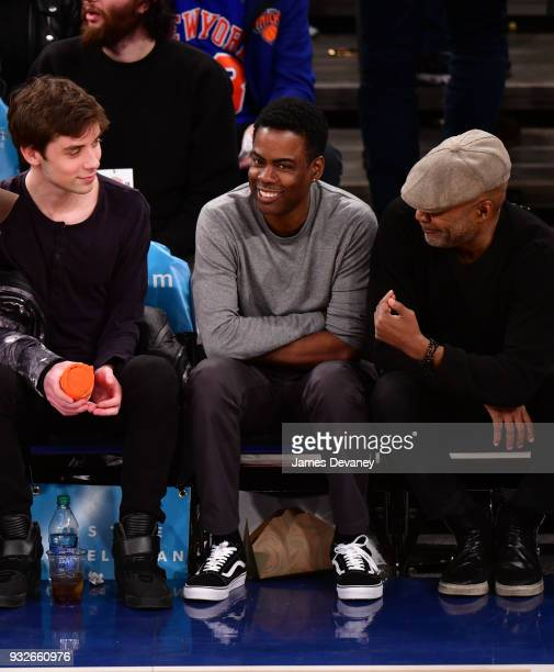 Chris Rock attends New York Knicks Vs Philadelphia 76ers game at Madison Square Garden on March 15 2018 in New York City