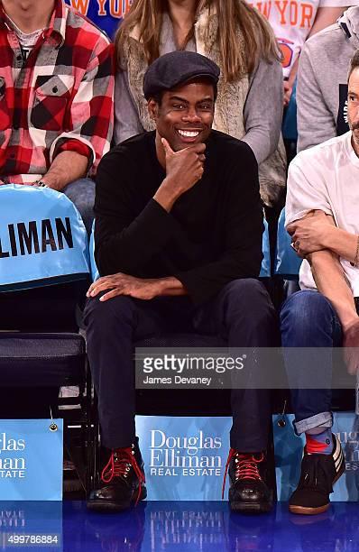 Chris Rock attends Philadelphia 76ers vs New York Knicks game at Madison Square Garden on December 2 2015 in New York City