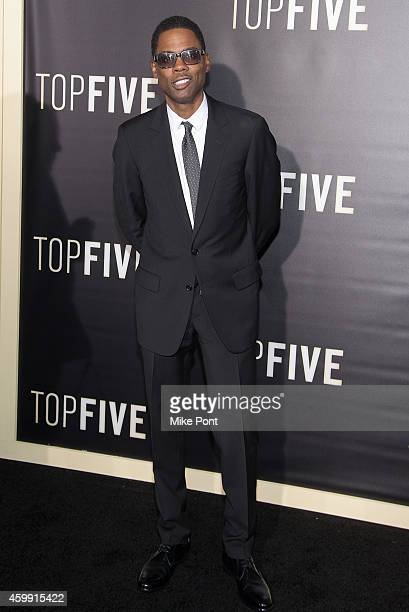 Chris Rock attends the 'Top Five' New York Premiere at Ziegfeld Theater on December 3 2014 in New York City