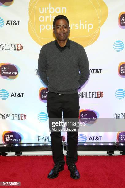 Chris Rock attends the Urban Arts Partnership's AmplifiED Gala at The Ziegfeld Ballroom on April 16 2018 in New York City