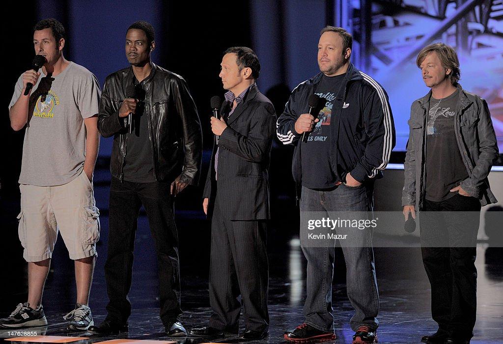 Chris Rock, David Spade, Adam Sandler, Rob Schneider and