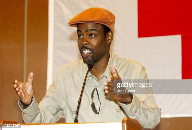 Chris Rock during BET National Urban League and American Red Cross Announce Hurricane Katrina Benefit Telethon at American Red Cross in New York New...