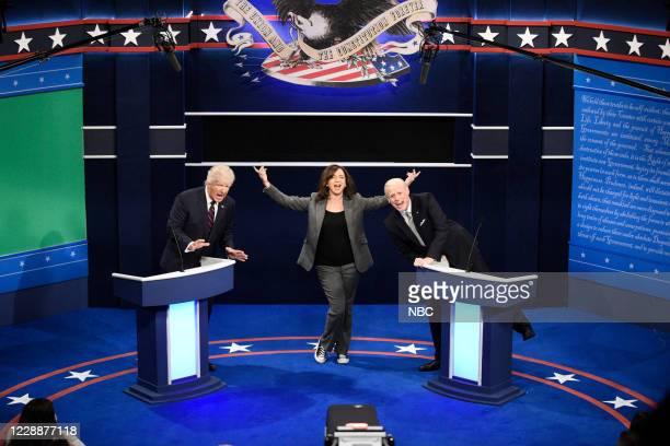 LIVE Chris Rock Episode 1786 Pictured Alec Baldwin as Donald Trump Maya Rudolph as Kamala Harris and Jim Carrey as Joe Biden during the First Debate...