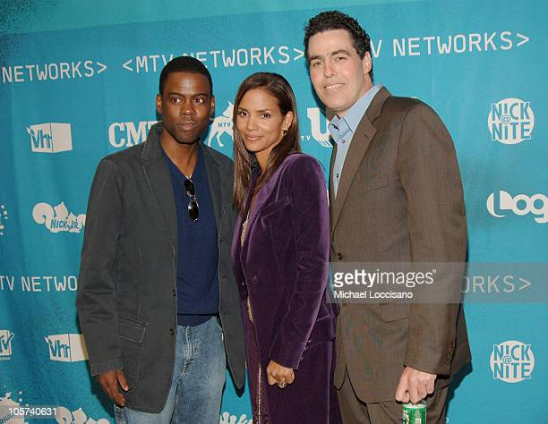 Chris Rock Halle Berry and Adam Carolla during 2005/2006 MTV Networks UpFront at The Theatre at Madison Square Garden in New York City New york...