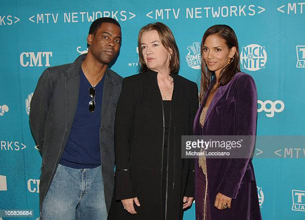 Chris Rock Judy McGrath MTV Networks Chairman and CEO and Halle Berry