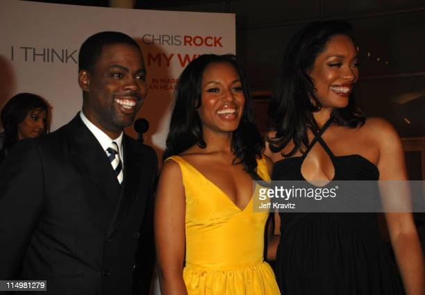 Chris Rock Kerry Washington and Gina Torres during 'I Think I Love My Wife' Los Angeles Premiere Red Carpet at ArcLight Cinemas in Hollywood...