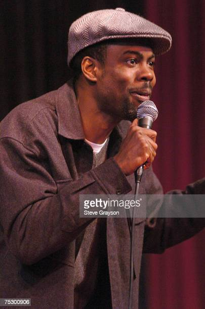 Chris Rock performs during the birthday celebration for Guy Torry at the 'Guy Torry Show Tuesdays' at the Comedy Store in West Hollywood California...