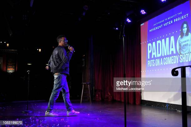 Chris Rock performs during the Movement Voter Project comedy benefit at The Bell House on October 24 2018 in the Brooklyn borough of New York City