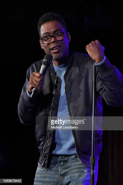 Chris Rock performs during the the Movement Voter Project comedy benefit at The Bell House on October 24 2018 in the Brooklyn borough of New York City
