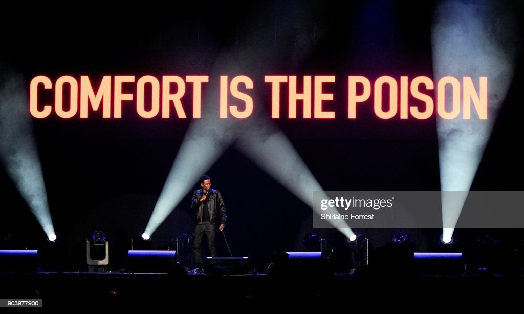 Chris Rock performs following a celebrity gala at Manchester Arena on January 11, 2018 in Manchester, England.