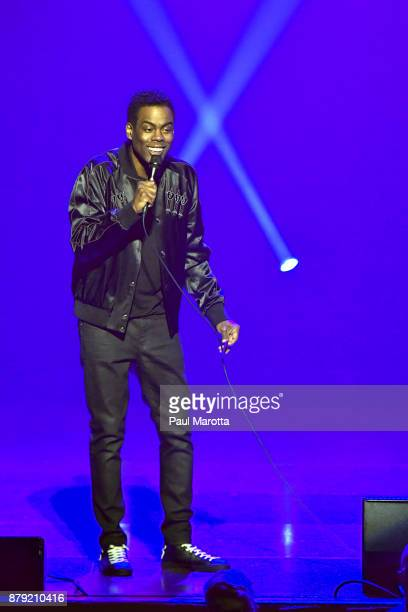 Chris Rock performs his Total Blackout Tour at Wang Theatre at Boch Center on November 25 2017 in Boston Massachusetts