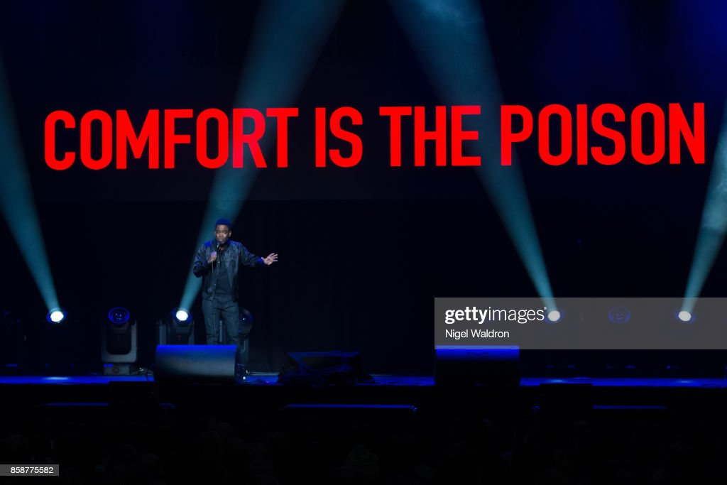 Chris Rock performs live on stage during The Total Blackout tour at Oslo Spektrum on October 7, 2017 in Oslo, Norway.