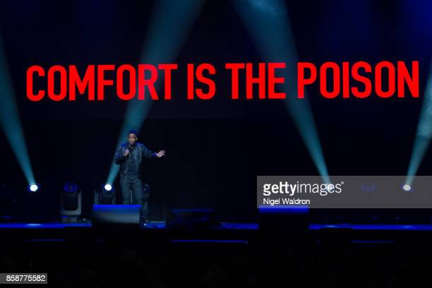 Chris Rock performs live on stage during The Total Blackout tour at Oslo Spektrum on October 7 2017 in Oslo Norway