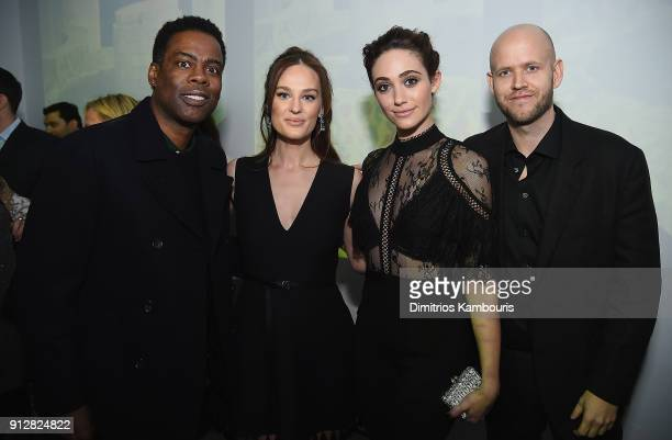 Chris Rock Sofia Ek Emmy Rossum and Daniel EK attend 'The Minefield Girl' Audio Visual Book Launch at Lightbox on January 31 2018 in New York City