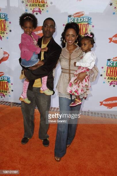 Chris Rock wife Malaak and daughters during Nickelodeon's 19th Annual Kids' Choice Awards Arrivals at Pauley Pavilion in Westwood California United...