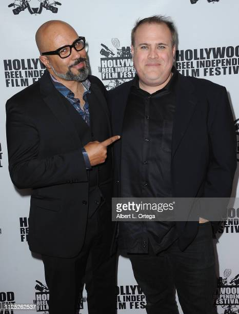 Chris Roe and Jonathan Hartman arrive for The 2019 Hollywood Reel Independent Film Festival held at Regal LA Live Stadium 14 on February 15 2019 in...