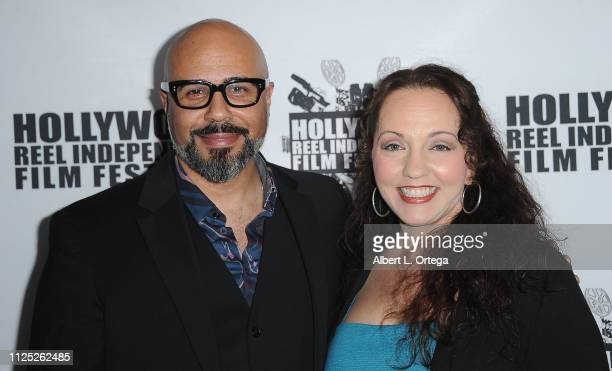 Chris Roe and Kris Deskins arrive for The 2019 Hollywood Reel Independent Film Festival held at Regal LA Live Stadium 14 on February 15 2019 in Los...