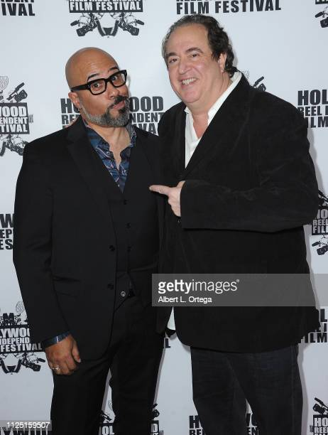 Chris Roe and Nick Vallelonga arrive for The 2019 Hollywood Reel Independent Film Festival held at Regal LA Live Stadium 14 on February 15 2019 in...