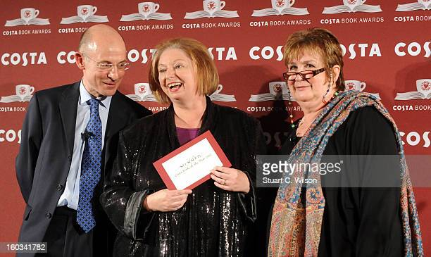 Chris Rogers Hilary Mantel and Dame Jenni Murray attend the Costa Book of the Year awards at Quaglinos on January 29 2013 in London England