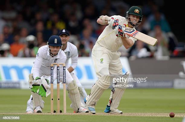 Chris Rogers of Australia bats during day one of the 2nd Investec Ashes Test match between England and Australia at Lord's Cricket Ground on July 16...