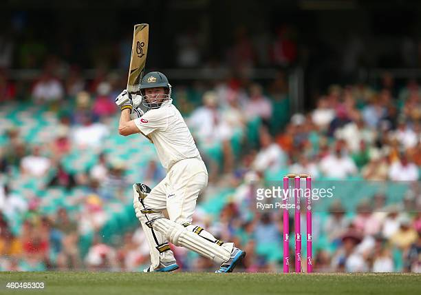 Chris Rogers of Australia bats during day two of the Fifth Ashes Test match between Australia and England at Sydney Cricket Ground on January 4 2014...