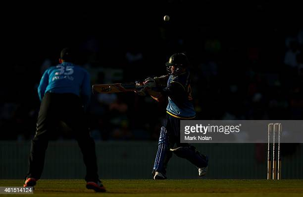 Chris Rogers of the PMs XI bats during the tour match between the Prime Ministers XI and England at Manuka Oval on January 14 2015 in Canberra...