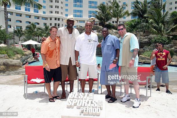 Chris Rose John Salley Jason Taylor Rodney Peete and Rob Dibble during day 2 taping of Fox Sports Network's Best Damn Sports Show Period at the...