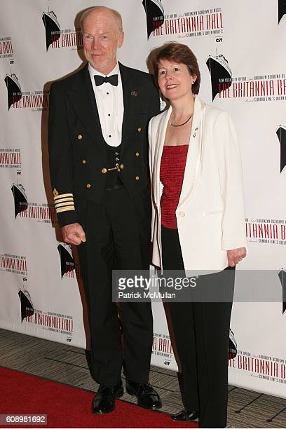 Chris Rynd and Carol Marlow attend Cunard Line Hosts The BRITANNIA BALL Aboard Queen Mary 2 To Benefit New York City Opera and Brooklyn Academy of...