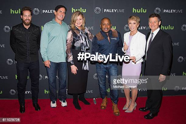 Chris Sacca Mark Cuban Arianna Huffington Daymond John Barbara Corcoran and Clay Newbill attend The Paley Center for Media Presents Shark Tank...