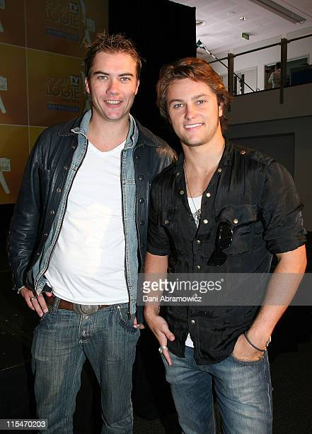 Chris Sadrinna and Mark Furze during 2007 TV WEEK Logie Awards Nominations Media Call at The Crystal Ballroom Luna Park in Sydney NSW Australia