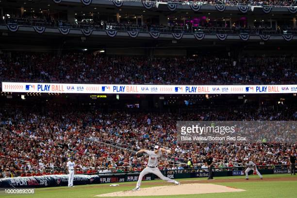 Chris Sale of the Boston Red Sox delivers during the first inning of the 89th MLB AllStar Game at Nationals Park Tuesday July 17 2018 in Washington DC