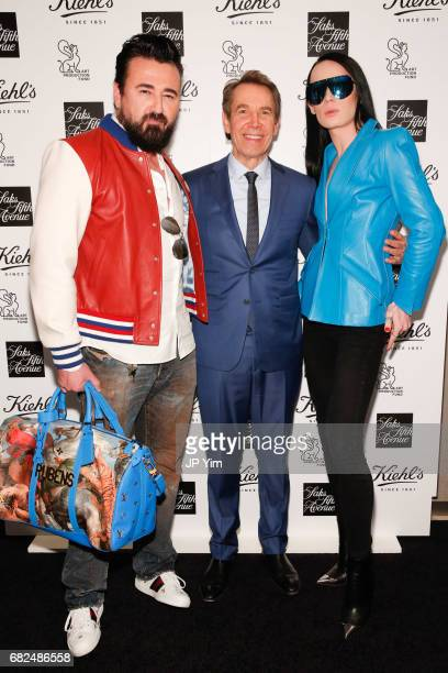 Chris Salgardo Jeff Koons and Kyle Farmery attend Saks Fifth Avenue Kiehl's and Art Production Fund celebration of the unveiling of Jeff Koons'...