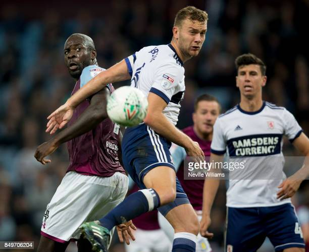 Chris Samba of Aston Villa during the Carabao Cup Third Round match between Aston Villa and Middlesbrough at the Villa Park on September 19 2017 in...