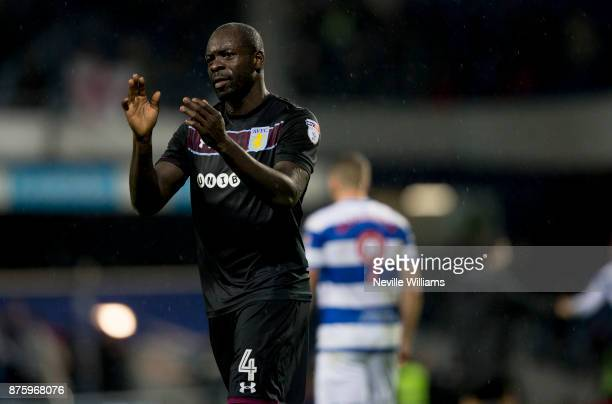 Chris Samba of Aston Villa during the Sky Bet Championship match between Queens Park Rangers and Aston Villa at Loftus Road on November 18 2017 in...