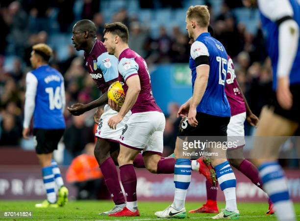 Chris Samba of Aston Villa scores for AstonVilla during the Sky Bet Championship match between Aston Villa and Sheffield Wednesday at Villa Park on...