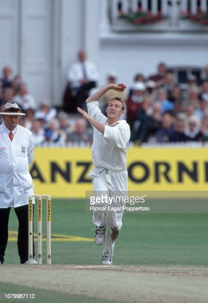 Chris Schofield bowling for England during the 2nd Test match between England at Zimbabwe at Trent Bridge Nottingham 4th June 2000 It was Schofield's...