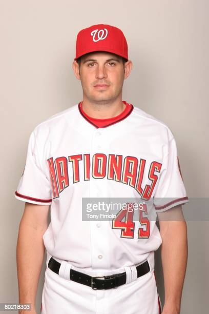 Chris Schroder of the Washington Nationals poses for a portrait during photo day at Space Coast Stadium on February 23 2008 in Viera Florida